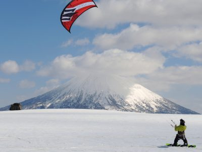 Niseko snow kite lessons